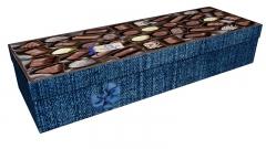 3650 - Chocolate box 2 square casket