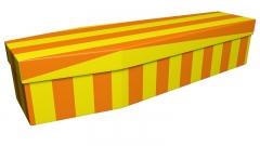 3681 - Yellow and orange pinstripe