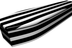 4072 - Black and white pinstripe