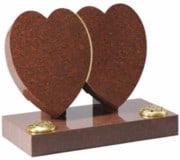 Ruby Red Granite Hearts