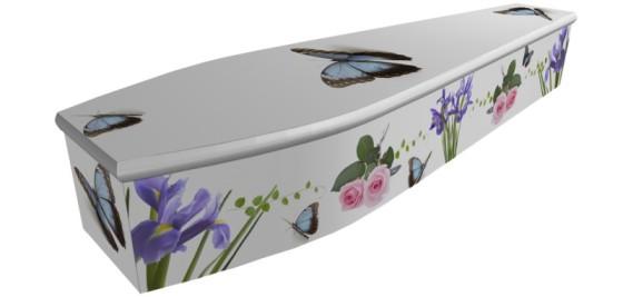 Roses, Irises & Butterflies