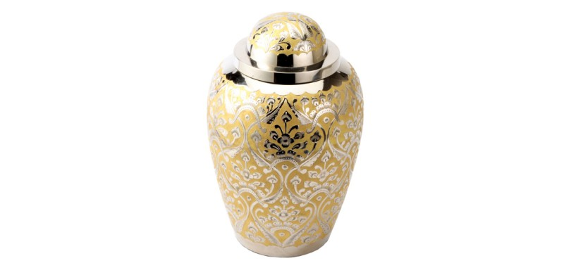 Devon Gold Ashes Urn