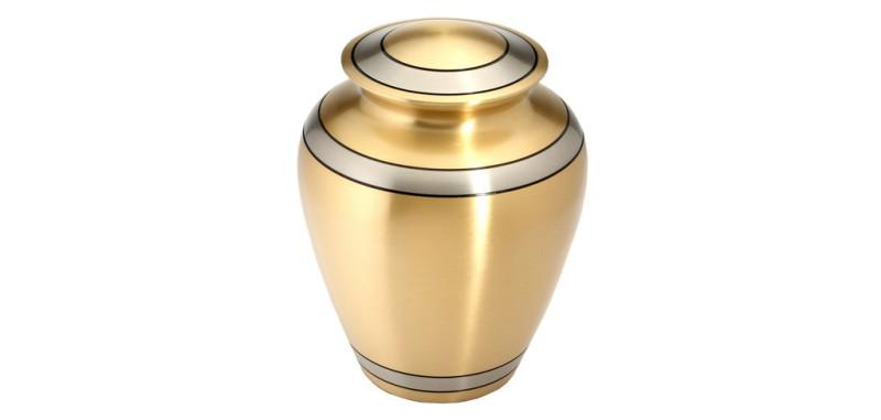 Durham Brass Ashes Urn