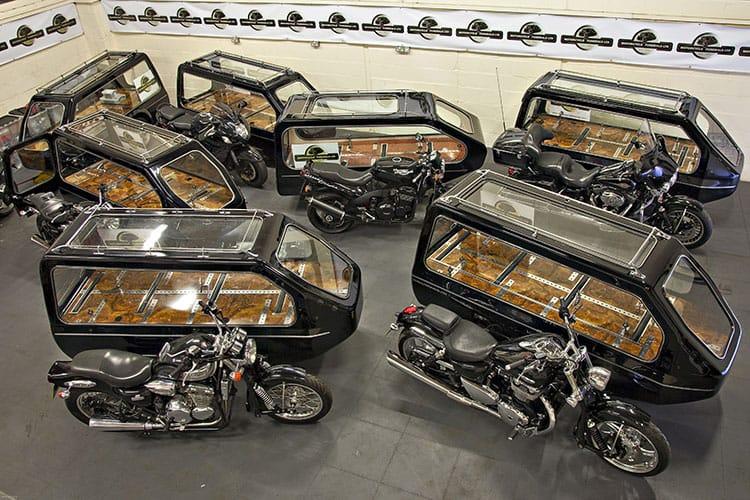 Motor cycle hearse fleet