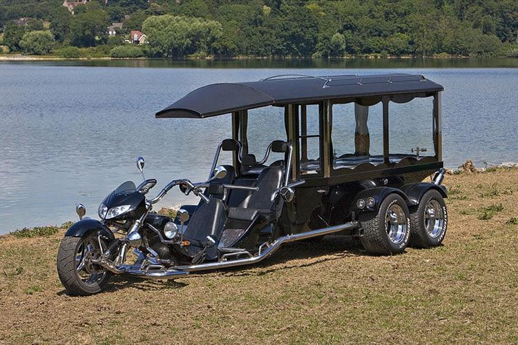 Motor cycle trike hearse 02