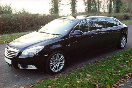 Modern black limousine